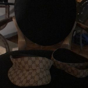 Gucci sun visor and belt missing buckle